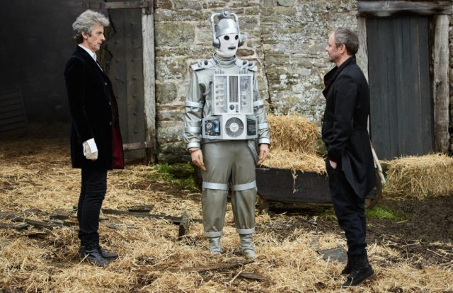Doctor Who - S10 - The Doctor Falls - The Doctor (PETER CAPALDI), Mondasian Cyberman, The Master (JOHN SIMM) - (C) BBC/BBC Worldwide - Photographer: Simon Ridgway