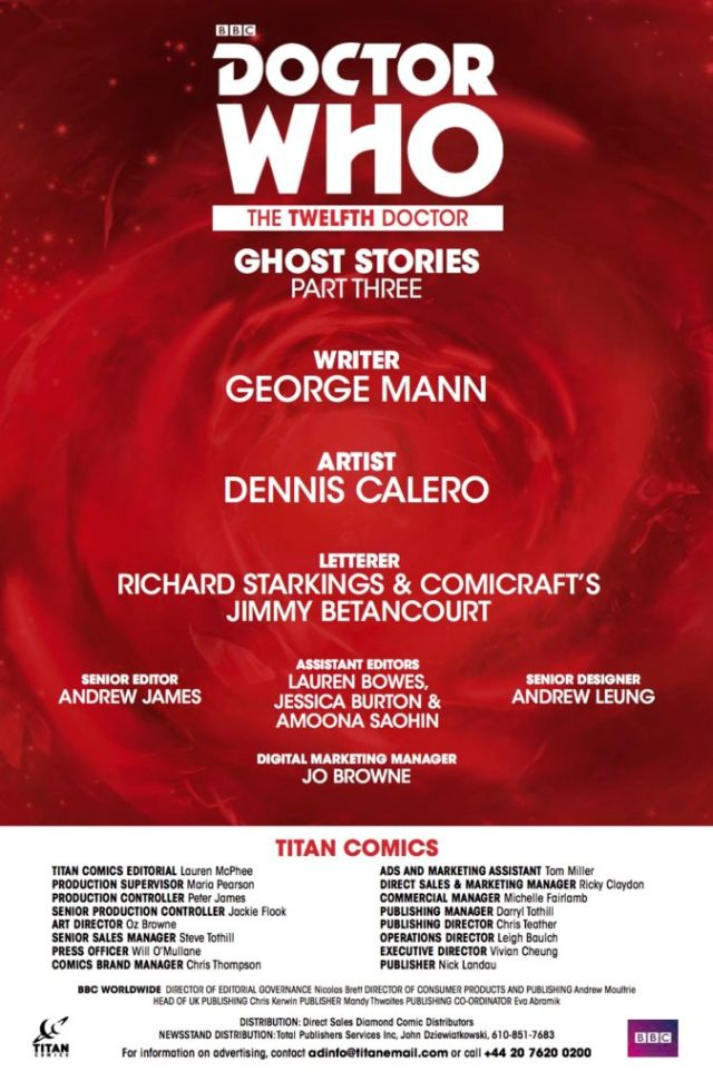 TITAN COMICS DOCTOR WHO: GHOST STORIES #3