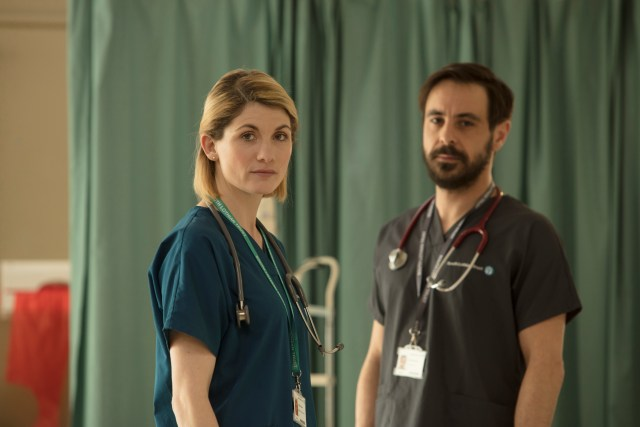 Trust Me - TX: n/a - Episode: Trust Me - Generics (No. n/a) - Picture Shows: Ally (JODIE WHITTAKER), Dr Andy (EMUN ELLIOTT) - (C) Red Productions - Photographer: Mark Mainz