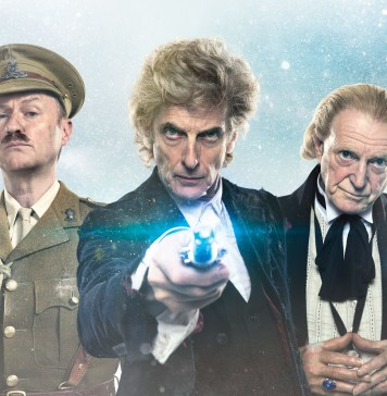 Doctor Who - Twice upon a Time - Christmas Special 2017 - The Captain (MARK GATISS), Doctor Who (PETER CAPALDI), The First Doctor (DAVID BRADLEY) - (C) BBC/BBC Worldwide - Photographer: Ray Burmiston