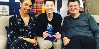 Pearl Mackie, Christel Dee and Steven Moffat © Doctor Who The Fan Show