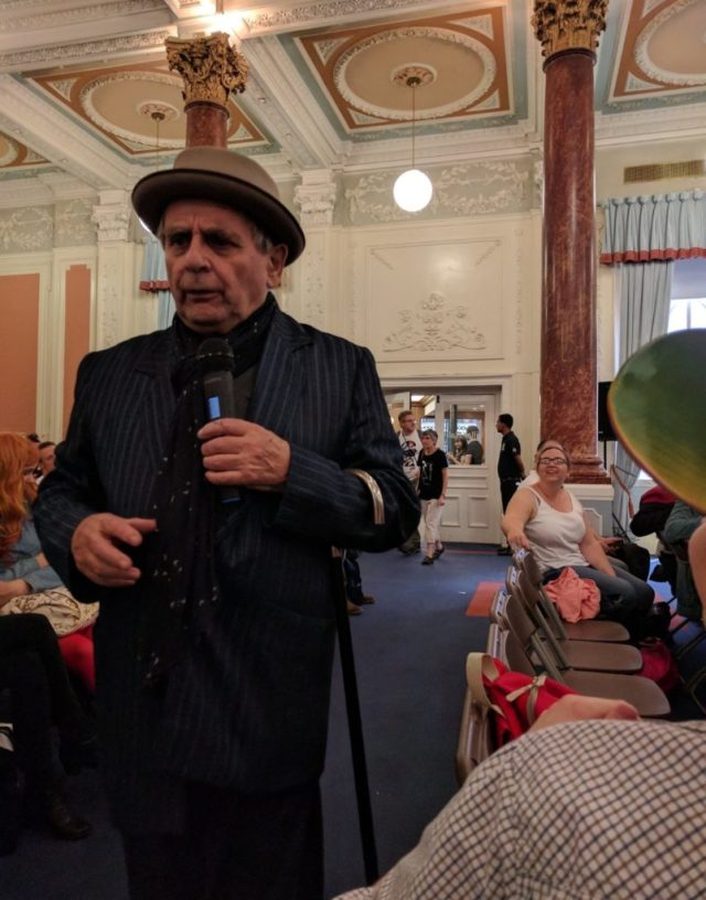 Sylvester McCoy at London Film and Comic Con 2017 © George Moss for Blogtor Who