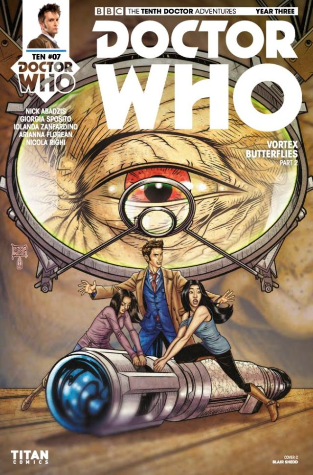 TITAN COMICS - DOCTOR WHO: TENTH DOCTOR #3.7 COVER C: BLAIR SHEDD