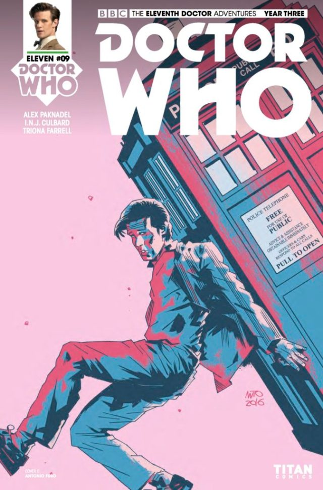 TITAN COMICS - DOCTOR WHO 11TH YEAR THREE #9 COVER C: ANTONIO FUSO