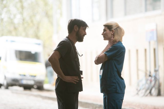 Trust Me - Ep3 (No. 3) - Dr Andy Brenner (EMUN ELLIOTT), Ally (JODIE WHITTAKER) - (C) Red Productions - Photographer: Mark Mainz