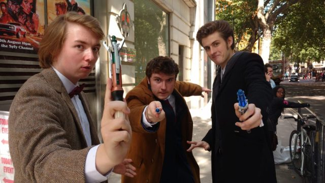 Three Doctor Who Cosplayers
