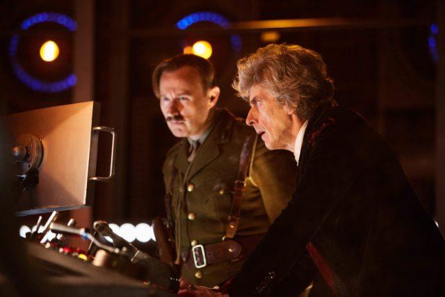 The Captain (MARK GATISS), The Doctor (PETER CAPALDI) - (C) BBC/BBC Worldwide - Photographer: Simon Ridgway