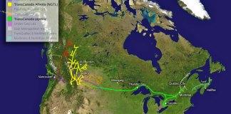 Tracé de TransCanada Pipelines