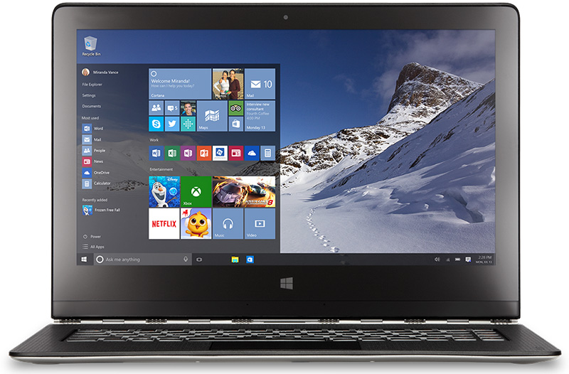 ordinateur-portable-avec-windows-10-de-microsoft