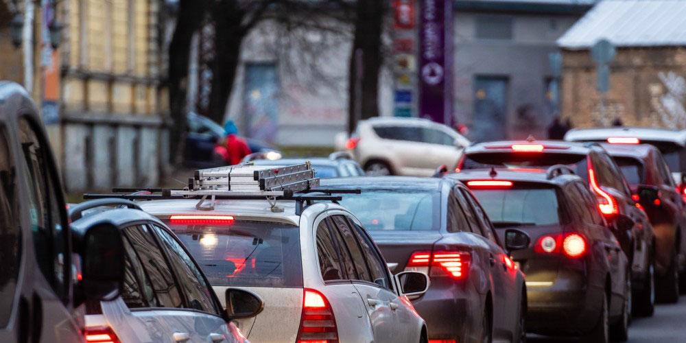 Voitures piégées dans la circulation