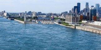 Fleuve St-Laurent à Montréal
