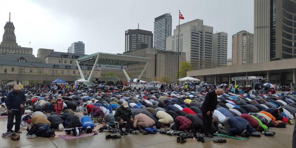 Prière islamique à Toronto