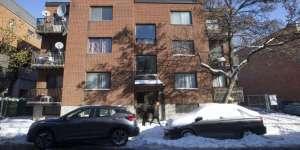 Appartements en hiver, à Montréal