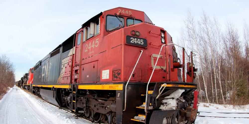 Train du CN arrêté
