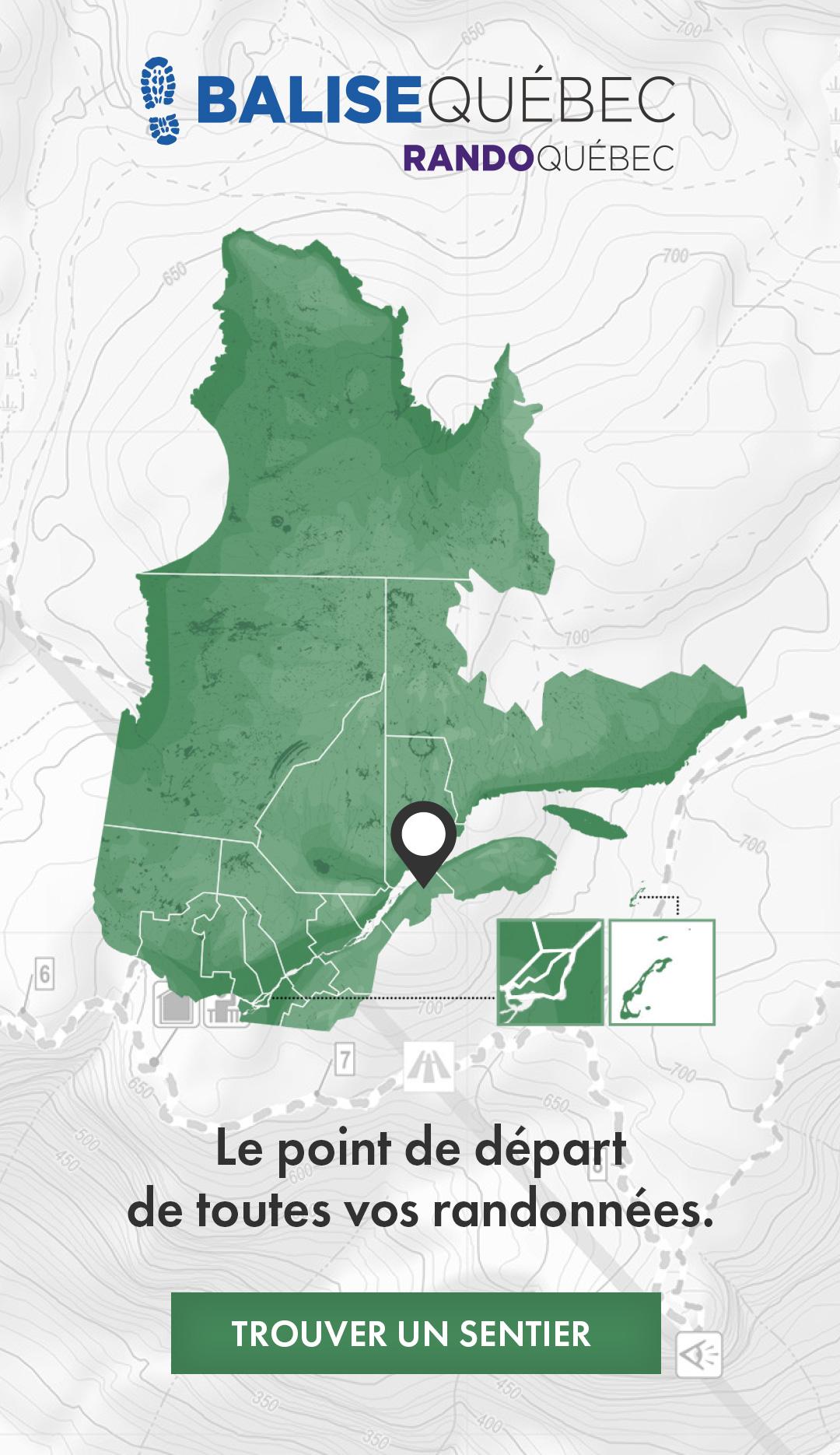 Balise Québec - Trouver un sentier