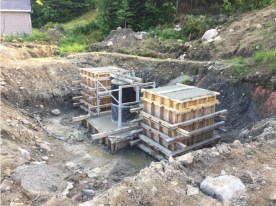 The foundation of the last tower was finally poured.