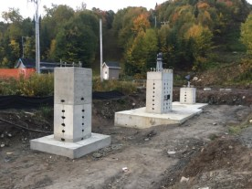Pylons have been completed and all concrete infrastructure is now complete.