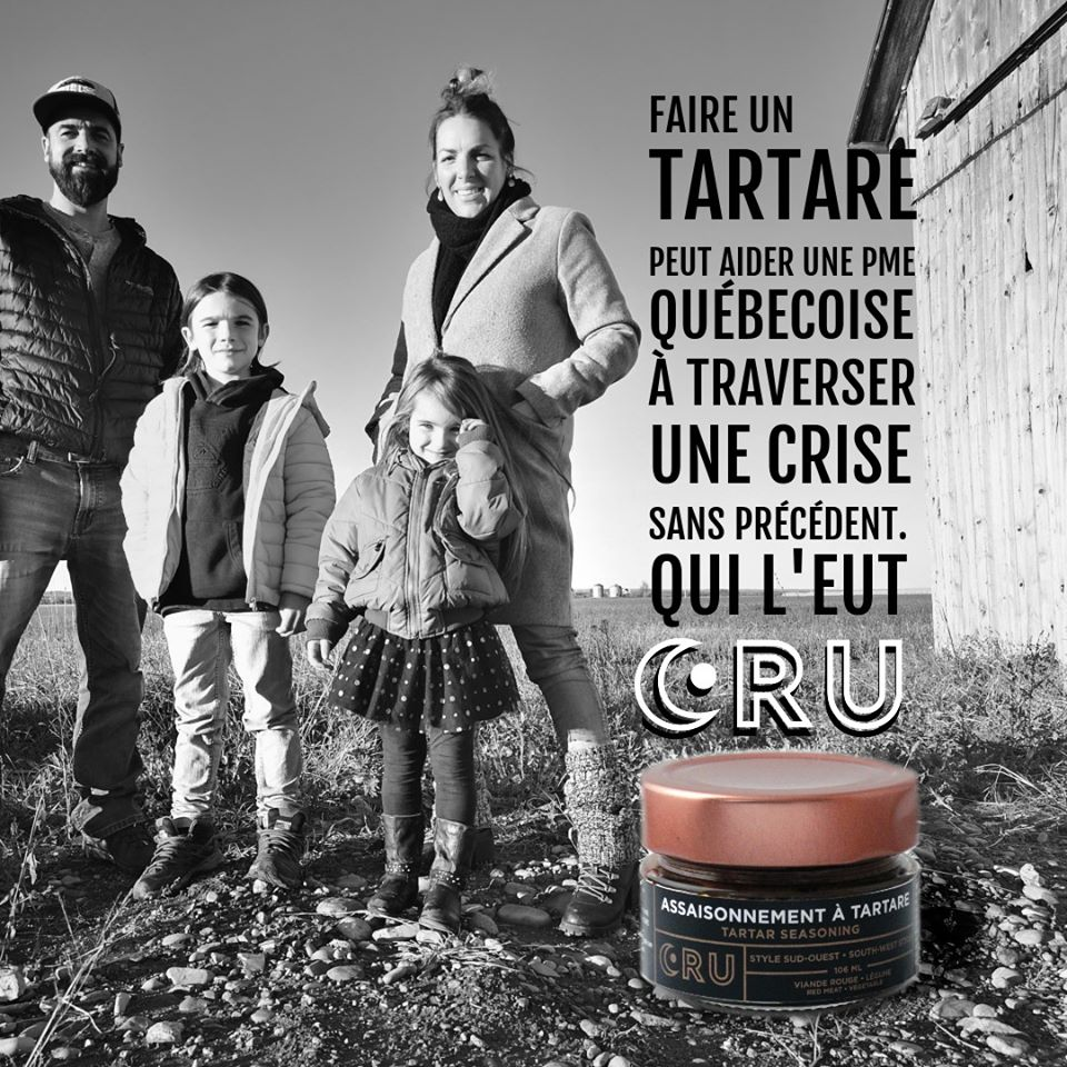 assaisonnements CRU tartare