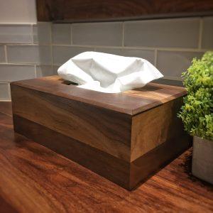 Couvercle décoratif Boîte à mouchoirs noyer