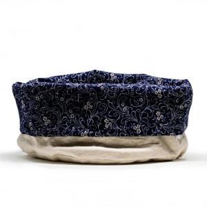 panier tissu bleu