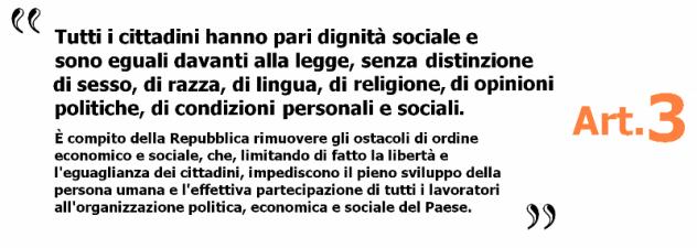 articolo 3 Costituzione italiana