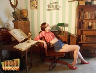 Lorena librarian Pin-Up by Jesus Torrealba