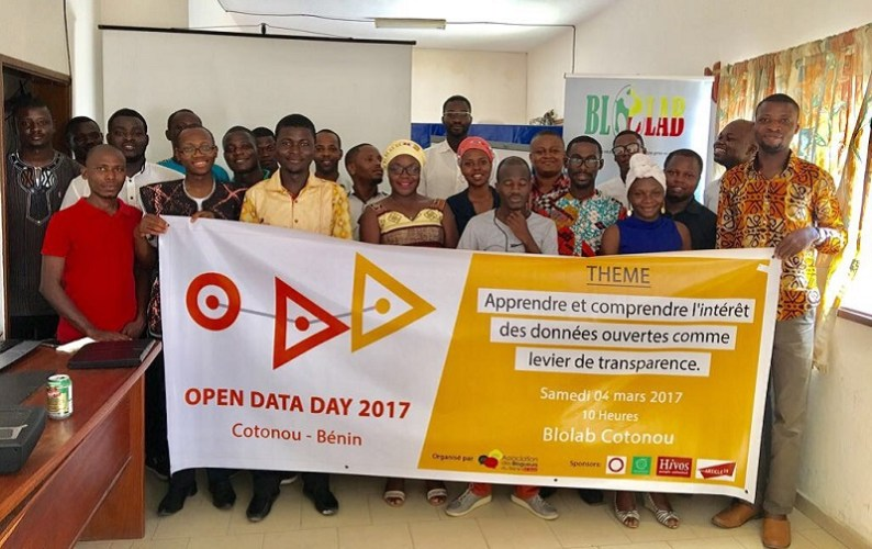 Final photo of the Open Data Day 2017 in Cotonou - Benin Republic
