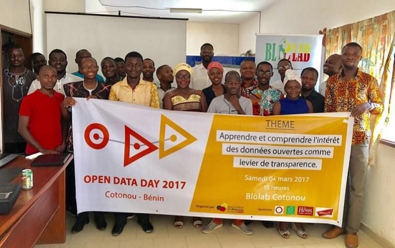 Final photo of the Open Data Day 2017 in Cotonou - Benin Republic