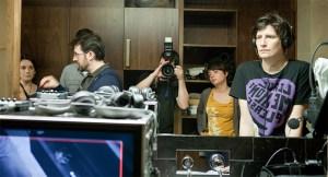 Haciendo fotos durante el rodaje