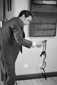 Luis Callejo en pleno rodaje