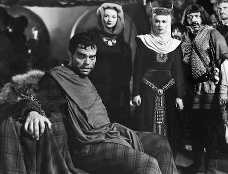 Un fotograma de Macbeth de Orson Welles