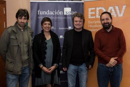 José Luis Moreno, Ana R. Calero, Bernd Lichtenberg y Gabi Ochoa.