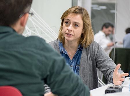 La guionista Ángela Armero en la ECAM de Madrid
