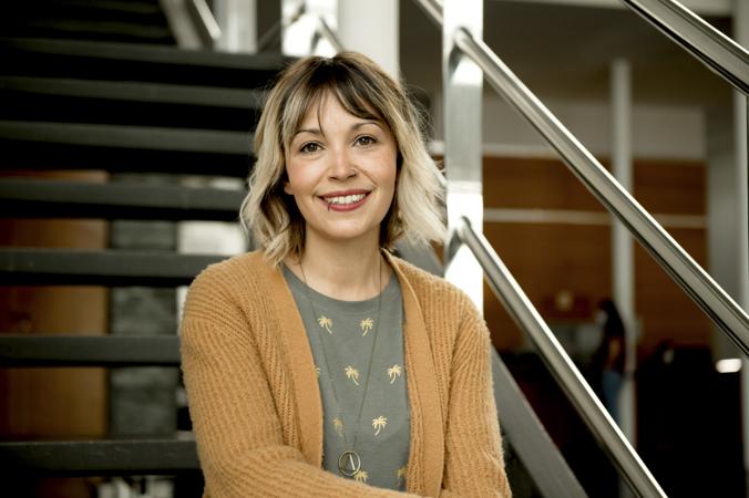 La guionista Alba Lucío en la ECAM de Madrid, febrero 2021