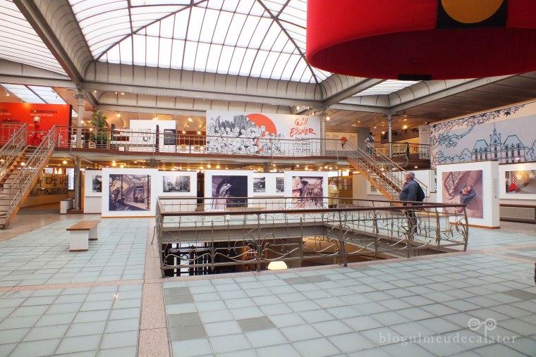 muzeul de benzi desenate bruxelles -interior