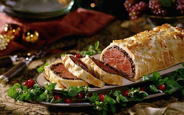 Makanan Dan Minuman Yang Identik Dengan Perayaan Natal - Beef Wellington