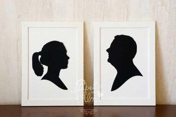 Rekomendasi Hadiah Atau Kado Valentine Untuk Pacar Dan Sahabat - Silhouette Wall Art