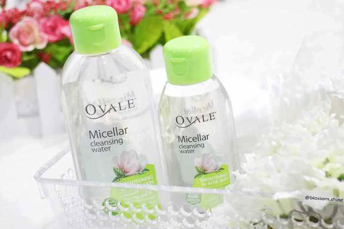 Rekomendasi Micellar Water Untuk Kulit Berjerawat - Ovale Micellar Cleansing Water Brightening for Acne Skin