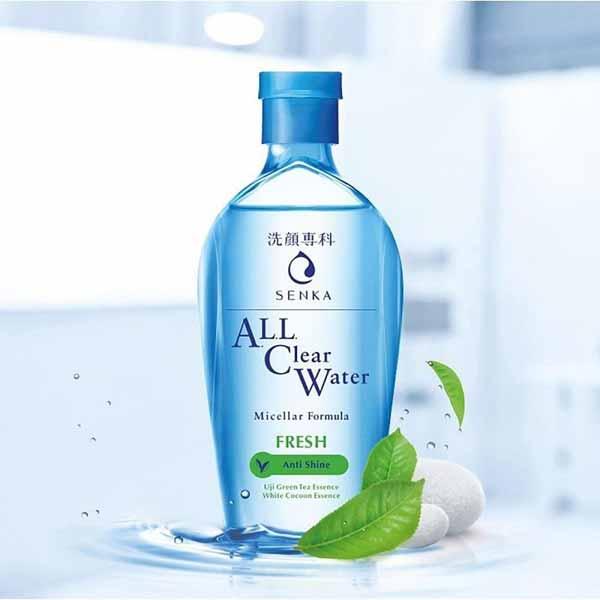 Rekomendasi Micellar Water Untuk Kulit Berjerawat - SENKA All Clear Water Fresh – Anti Shine