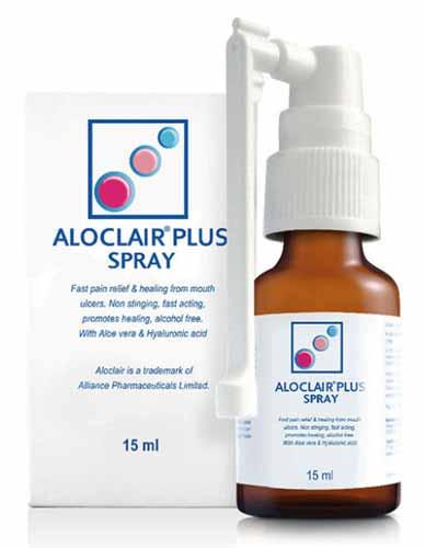 Daftar Obat Yang Bagus Dan Cepat Menghilangkan Sariawan - Aloclair Spray