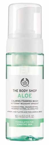 Sabun Wajah Yang Bagus Untuk Kulit Sensitif - The Body Shop Aloe Foaming Facial Wash