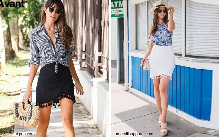 Tampil Fashionable Dengan Rok Mini - Mini tassel skirt