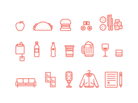 Icons pour UI designer food