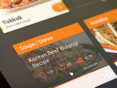 food site - Inspiration UX design - Food site