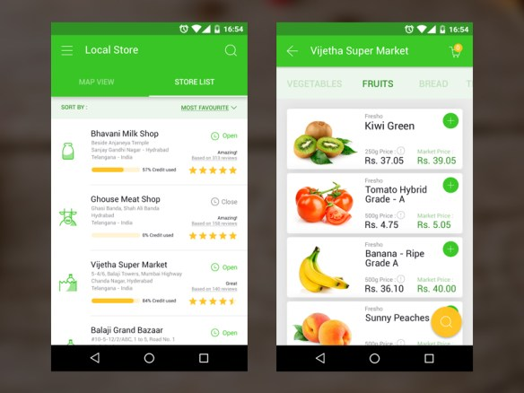 Application mobile fruit et légume