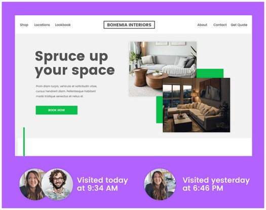 Sample of a landing page