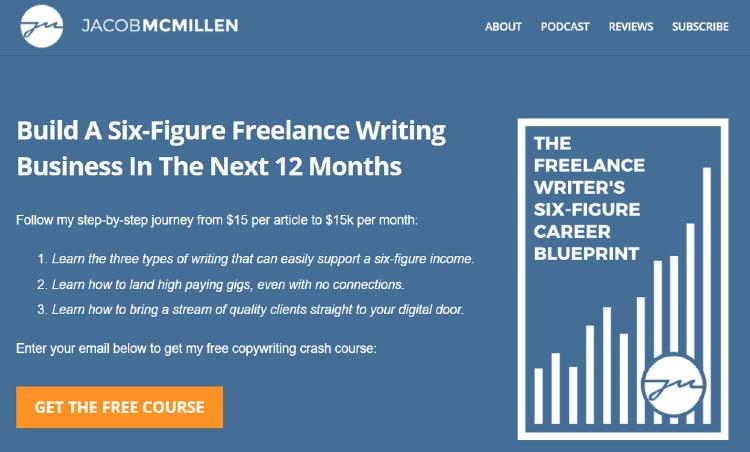 jacob mcmillan's site homepage screenshot