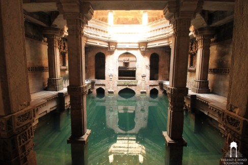 the lowest level at Adalaj Step Well