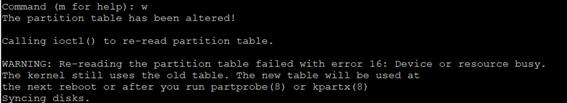 Linux LVM fdisk w
