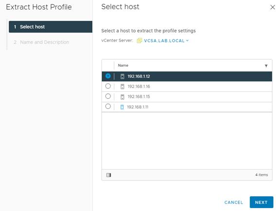 host profile